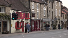 Helmsley England rural market town center stores 4K Stock Footage
