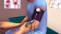Testing of Blood pressure Stock Footage