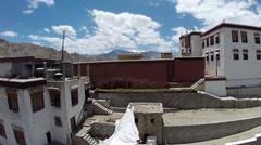 Tibet monastery Stock Footage