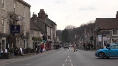Helmsley England rural market town main street 4K Stock Footage