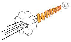 Cartoon Comic Book Whoosh Fast Sound Effect Piirros