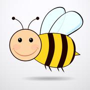 Bee - vector illustration. - stock illustration