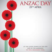 ANZAC (Australia New Zealand Army Corps) Day card in vector format. Stock Illustration