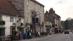 Helmsley England rural market town pub traffic 4K Stock Footage
