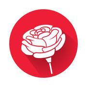 a rose flower - stock illustration