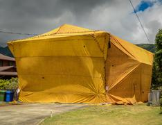 Home Fumigation Pest Control Tent - stock photo