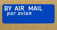 Airmail letter Stock Photos
