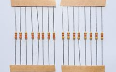 Passive resistor - stock photo
