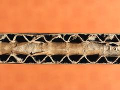 Brown corrugated cardboard background - stock photo