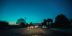 Night Driving Hyper-lapse 6k Stock Footage