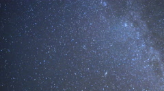 Astro Time Lapse of Geminid Meteor Shower Burst into Plume 200% Zoom Stock Footage