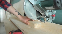 Compound miter saw Stock Footage