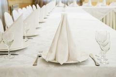 Restaurant event. Banquet, wedding, celebration Stock Photos