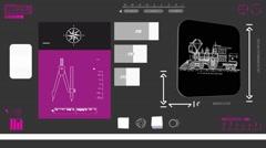 Old Train - Coding Info - purple 02 - stock footage