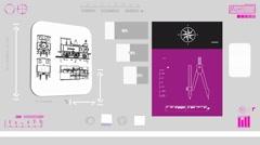Train - Coding Info - purple 01 Stock Footage