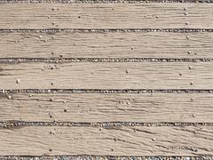 Rubble on the wooden walkway Stock Photos