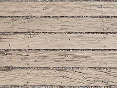 rubble on the wooden walkway - stock photo