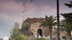 Mijas museum - distant view on sunny day Stock Footage