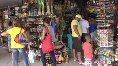 Fortaleza central market souvenirs, Brazil Stock Footage