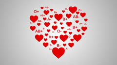 Hearts and Blood Types Stock Footage
