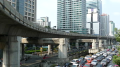 Time lapse from traffic at Sathon Tai Road and Sathon Nuea Road Stock Footage