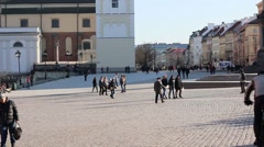 Stock Video Footage of Old Town  in Warsaw is placed on the UNESCO's list of World Heritage Sites.