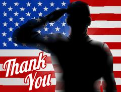 Memorial Day Thank You American Flag Stock Illustration