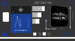 Ship - Coding Info - blue 02 Stock Footage