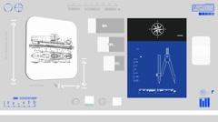 Transpotation boat - Coding Info - blue 01 Stock Footage