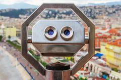 View of old center of Nice. Cote d'Azur, French Riviera. Stock Photos