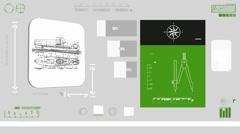 Transpotation boat - Coding Info - green 01 Stock Footage