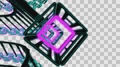 VJ Loop neon metal beats rollercoaster camera 128 bpm outlined Stock Footage