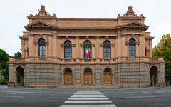 Bergamo. Gaetano Donizetti theater Stock Photos
