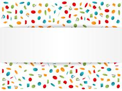 Stock Illustration of Background with Confetti