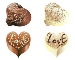 Stock Illustration of Chocolate Hearts
