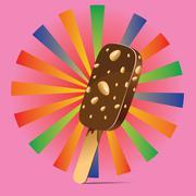 Chocolate Ice Cream Background - stock illustration