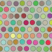 Seamless pattern polka dot. Vector background. Vintage wallpaper. - stock illustration