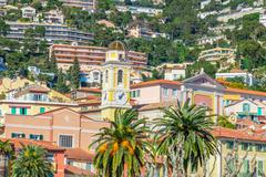 Stock Photo of View of beautiful landscape with Mediterranean luxury resort. Villefranche-su