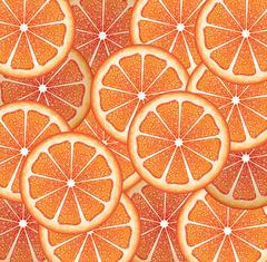 Grapefruit Slices Background Stock Illustration