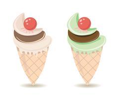 Ice cream cones Stock Illustration