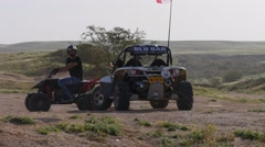 RC buggy in the desert - stock footage