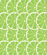 Lime Slices Background - stock illustration