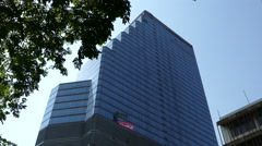 Skyscraper in Silom Bangkok Thailand Stock Footage