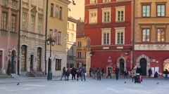 Old Town  in Warsaw is placed on the UNESCO's list of World Heritage Sites. Stock Footage