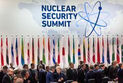 Nuclear Security Summit in Washington, 2016 Stock Photos