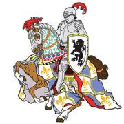 knight - stock illustration