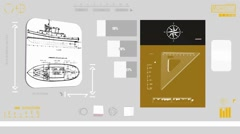 Fishing Boat - Coding Info - yellow 01 Stock Footage
