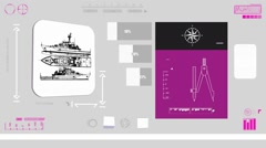 Vacation boat - Coding Info - purple 01 Stock Footage