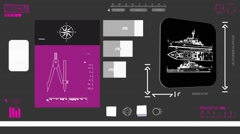 Vacation boat - Coding Info - purple 02 Stock Footage