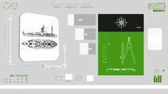 Army Ship - Coding Info - green 01 Stock Footage